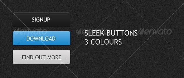 Sleek Web Buttons - Buttons Web Elements