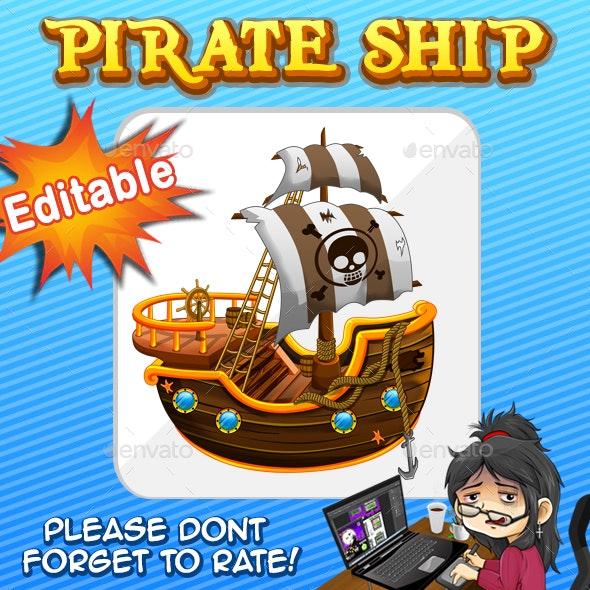 Pirate Ship Vector - Illustrations Graphics