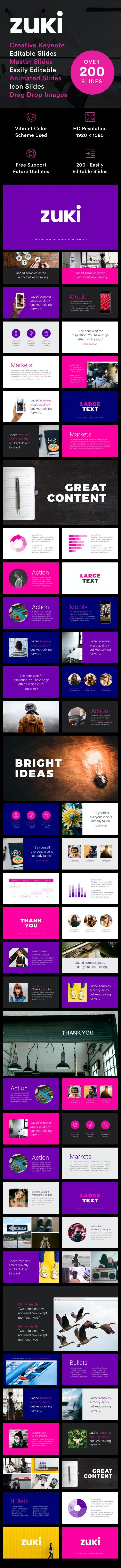 Zuki - Keynote Presentation Template - Creative PowerPoint Templates