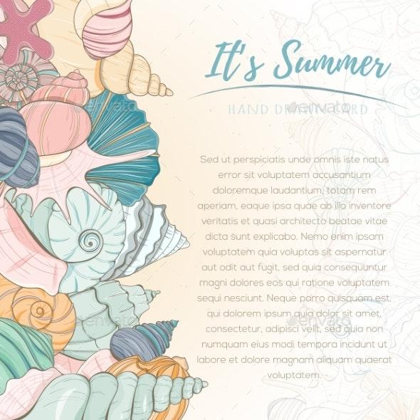 Summer Paradise Holiday Marine Card - Animals Characters
