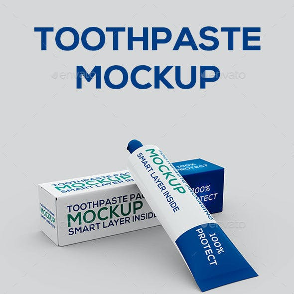 Toothpaste Packaging Mock-up