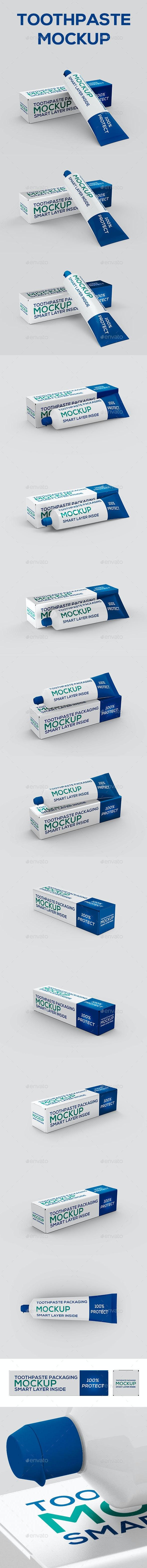 Toothpaste Packaging Mock-up - Beauty Packaging