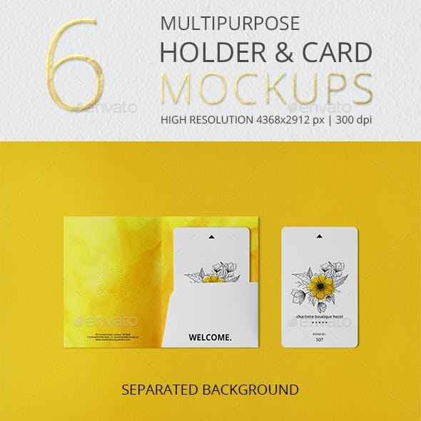 Multipurpose Holder & Card Mockup Vol 3.0