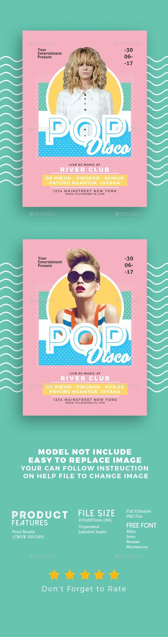 Pop Disco Flyer - Events Flyers