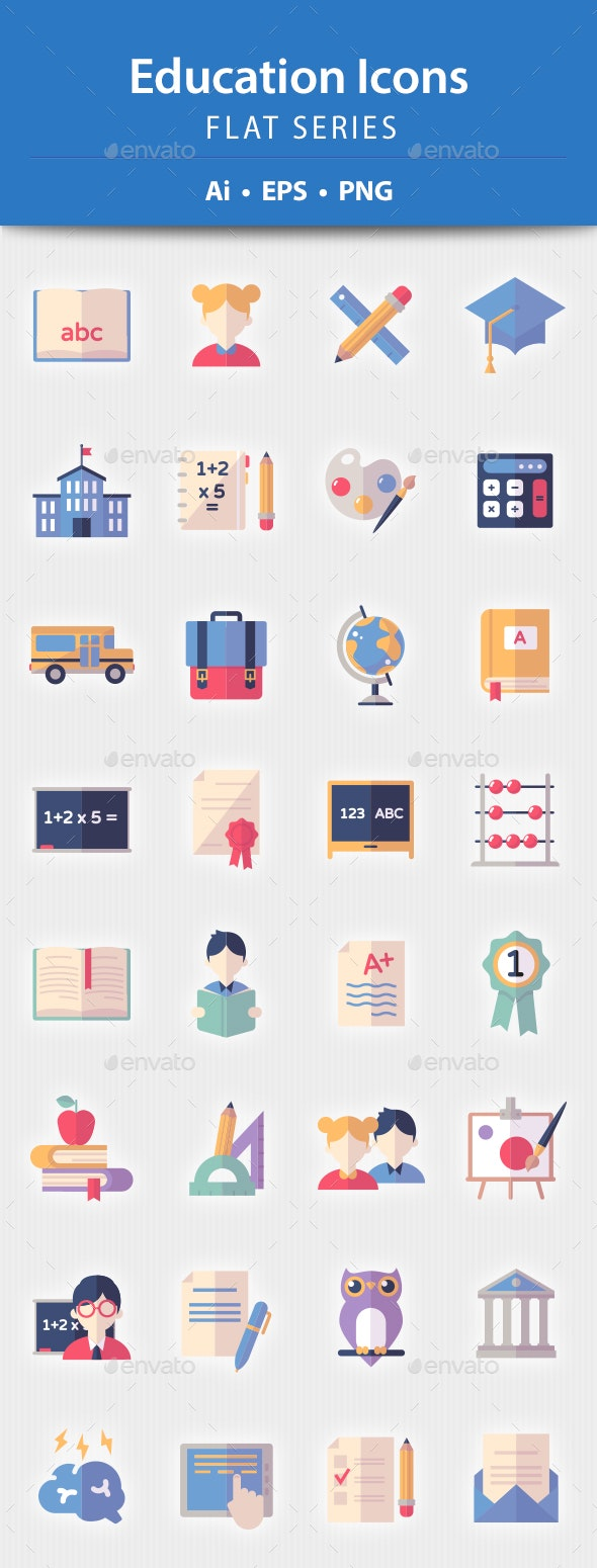 Education Icons - Flat Series - Icons