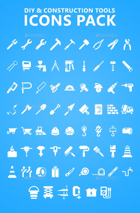 DIY and Construction Tools Icons Pack - Icons