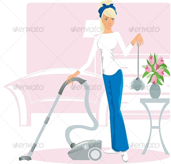 Cleaning - People Characters