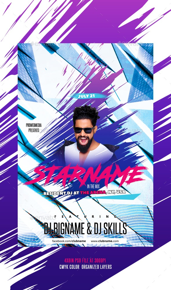 Music Party Flyer Template - Events Flyers