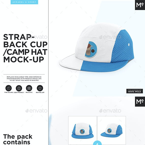 Strapback  Cap / Camp Hat  Mock-up