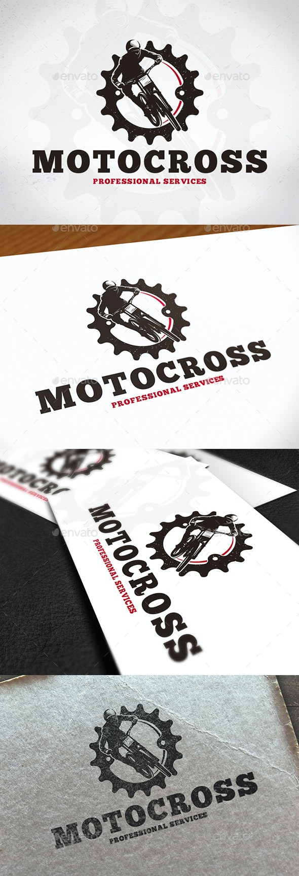 Motocross Gear Creative Logo - Sports Logo Templates