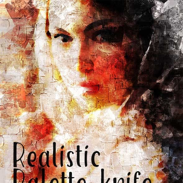 Realistic Palette-Knife Painting Action
