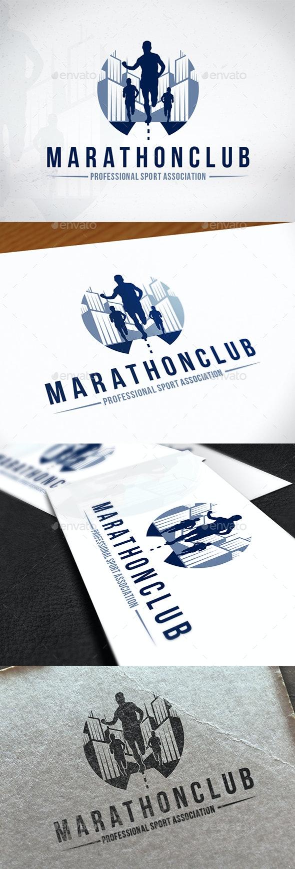 Marathon Club Logo Design - Sports Logo Templates