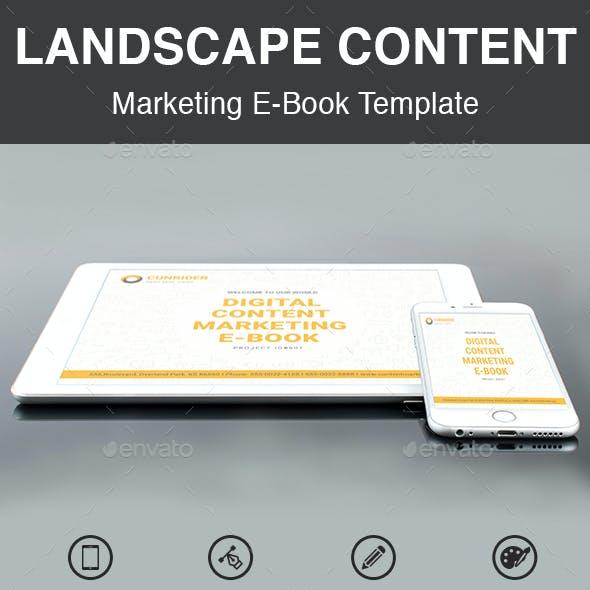 Landscape Content Marketing E-Book