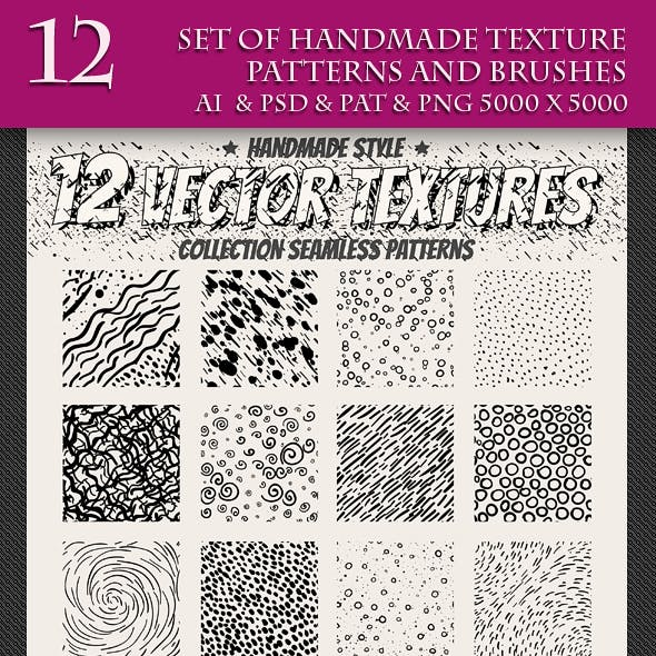 Set of Handmade Texture Pattern and Brushes 4
