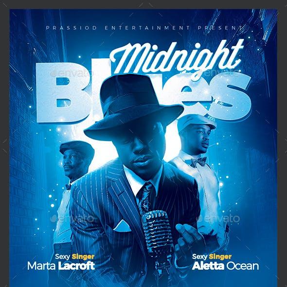 Midnight Blues Flyer Template