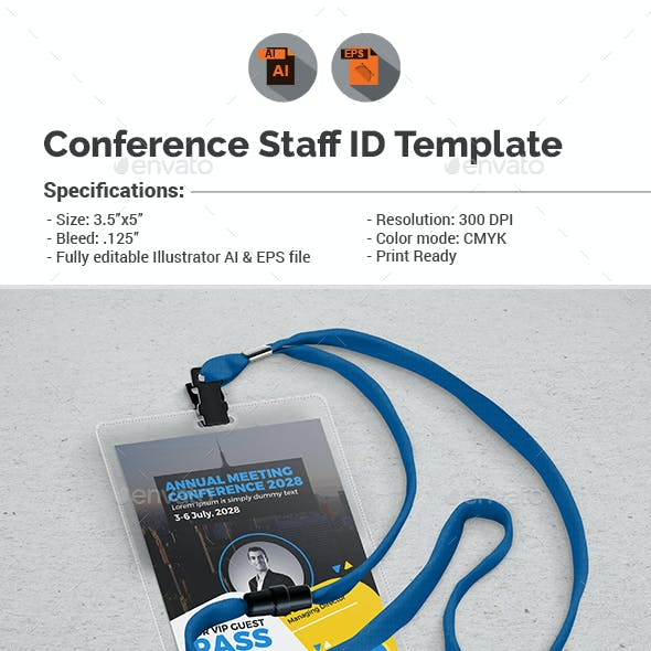 Conference VIP Pass ID Template
