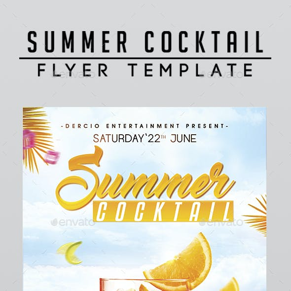Summer Cocktail Flyer Template