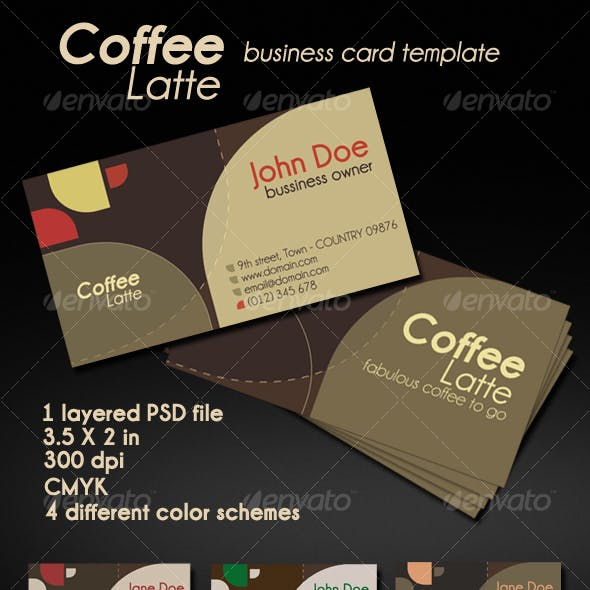 Coffee Latte Card
