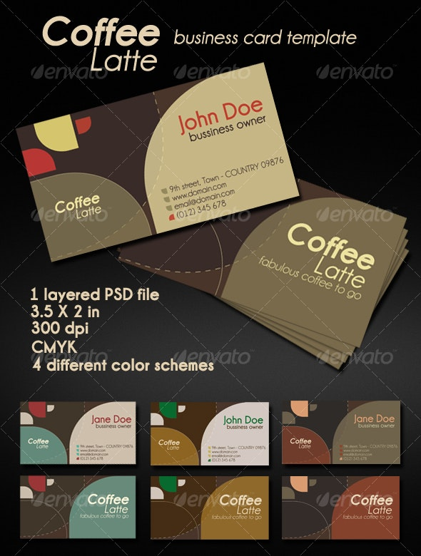 Coffee Latte Card - Creative Business Cards