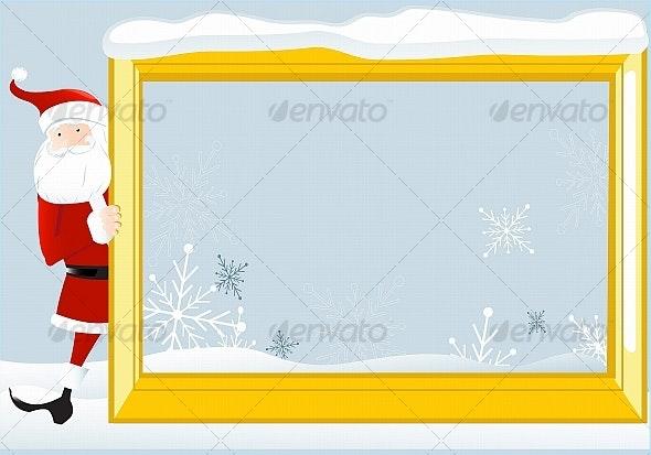 Santa Claus with a frame 2 - Christmas Seasons/Holidays