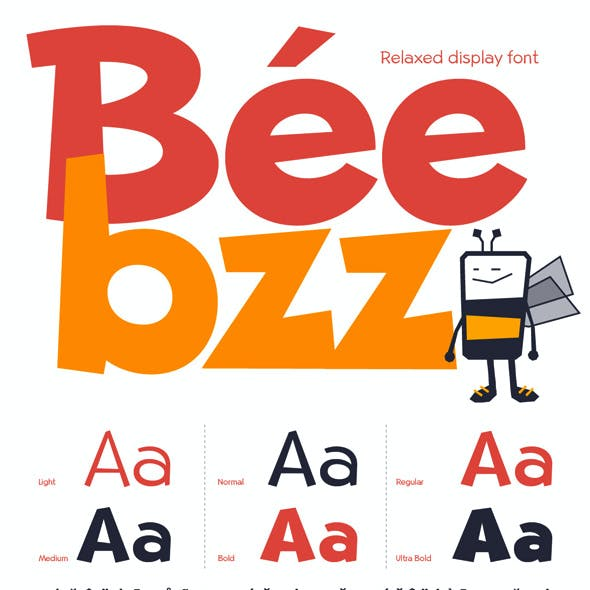 Beebzz!. Child kid fun display font