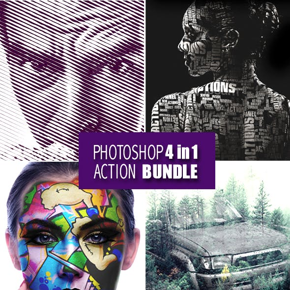 Photoshop 4in1 Actions Bundle