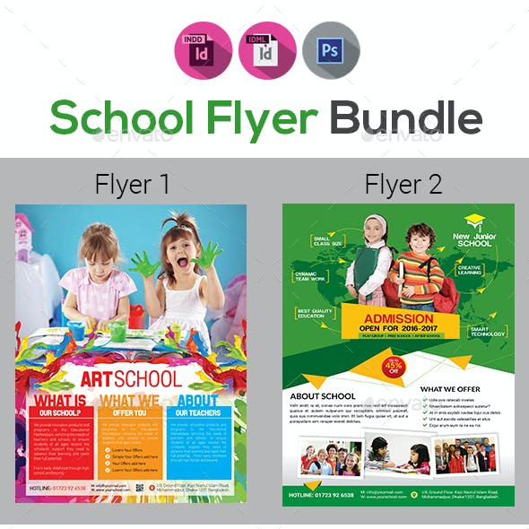 Junior School Admission Flyer Bundle