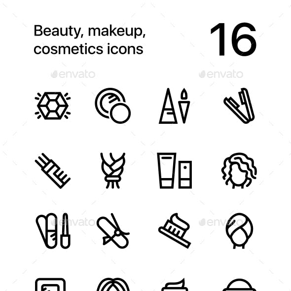 Beauty, Cosmetics, Makeup Icons for Web and Mobile Design Pack 4