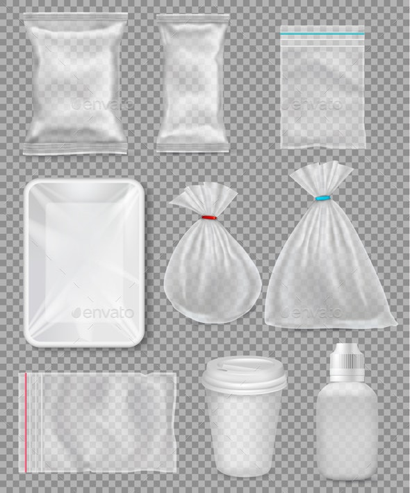 Big Set Of Polypropylene Plastic Packaging - Man-made Objects Objects