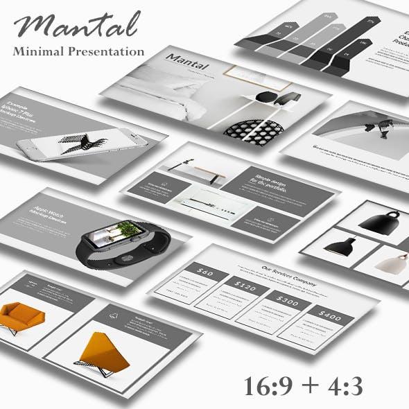 Mantal Minimal Google Slide Template