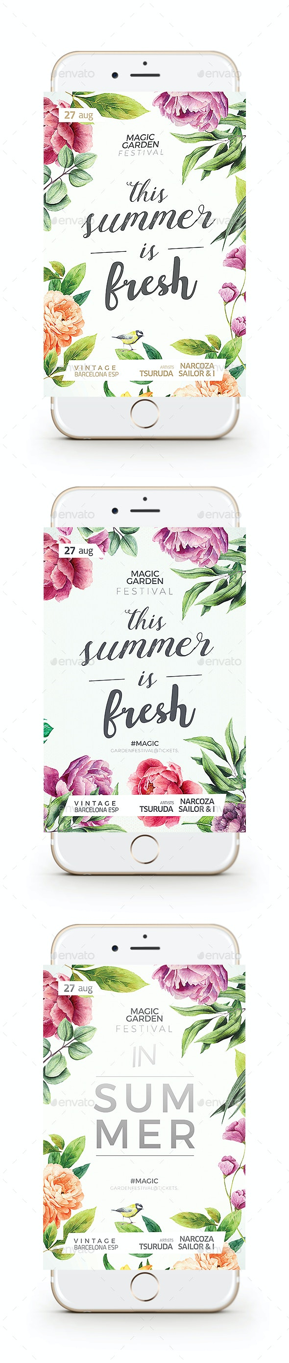 Flowers Flyer - Clubs & Parties Events