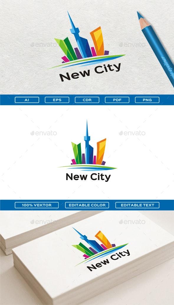 New City - Buildings Logo Templates