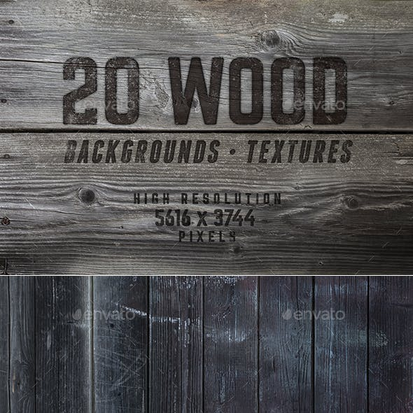 20 Beautiful Wood Backgrounds / Textures