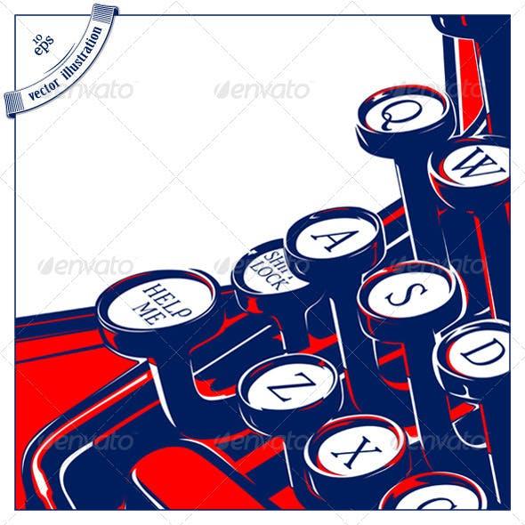 Typewriter Keyboard Retro Style