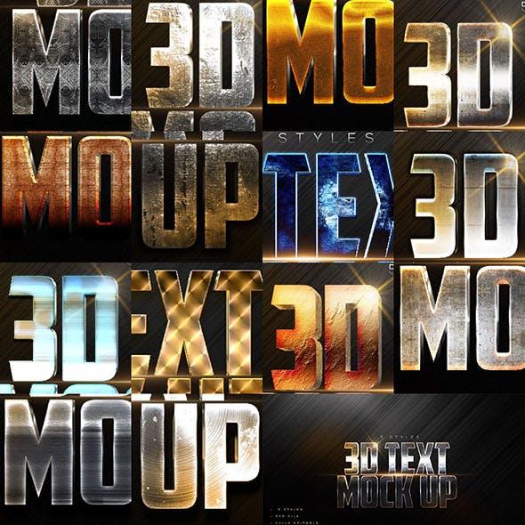 40 Bundle 3D Text Styles W-A