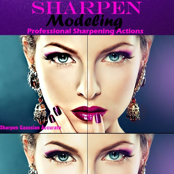 5 Sharpen Beauty PS Actions