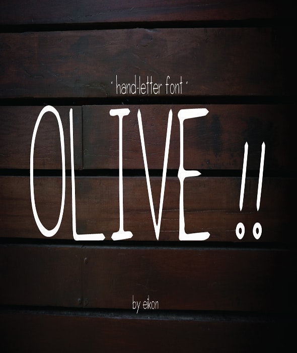 olive hand-letter - Handwriting Fonts