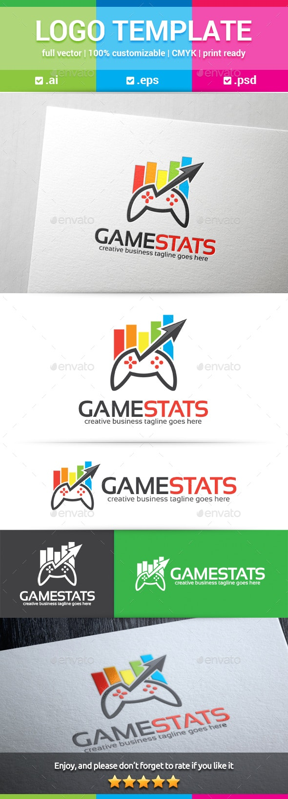 Games Stats Logo - Objects Logo Templates