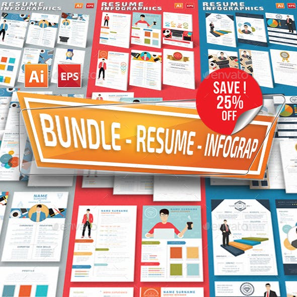 Bundle Resume Infographics