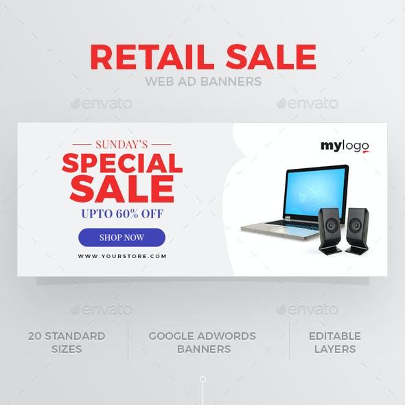 Retail Sale Web Ad Banner