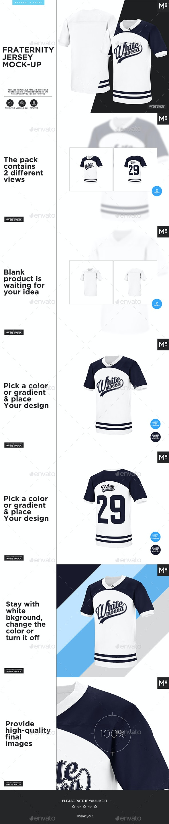 Fraternity Jersey Mock-up - Miscellaneous Apparel