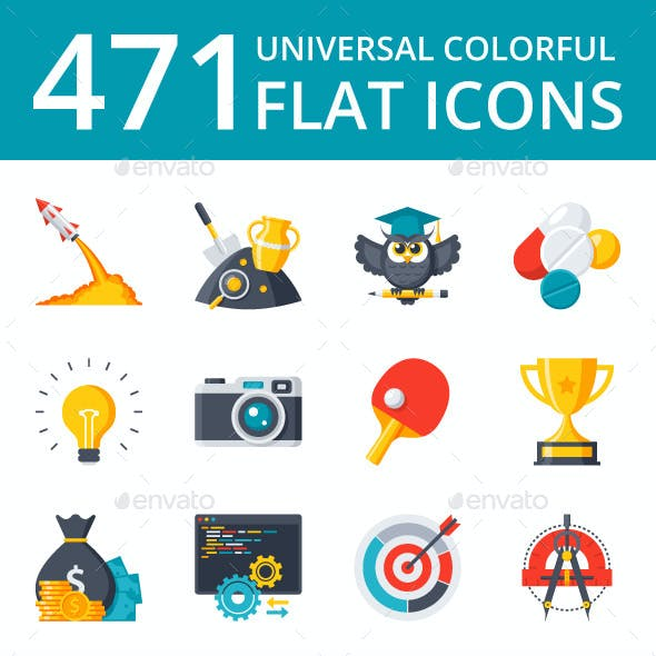 471 Flat Icons - Bundle