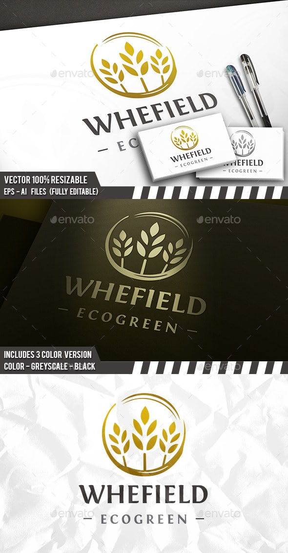 Organic Wheat Circle Logo - Symbols Logo Templates