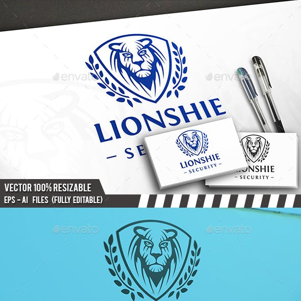 Lion Face Shield Logo