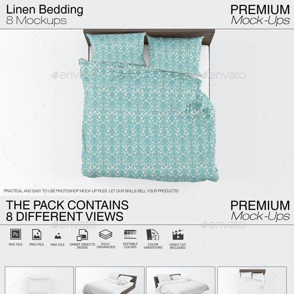 Linen Bedding Mockup