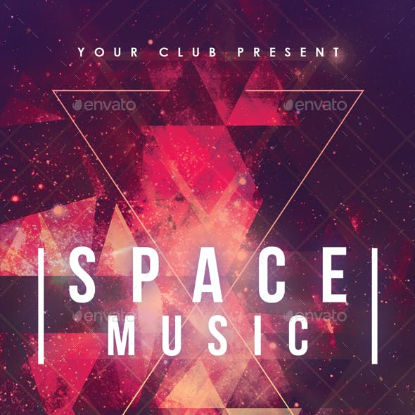 Space Party Abstract Poster