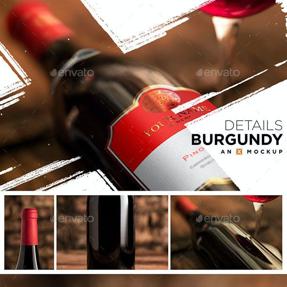 Details Wine Mockup - Burgundy Red