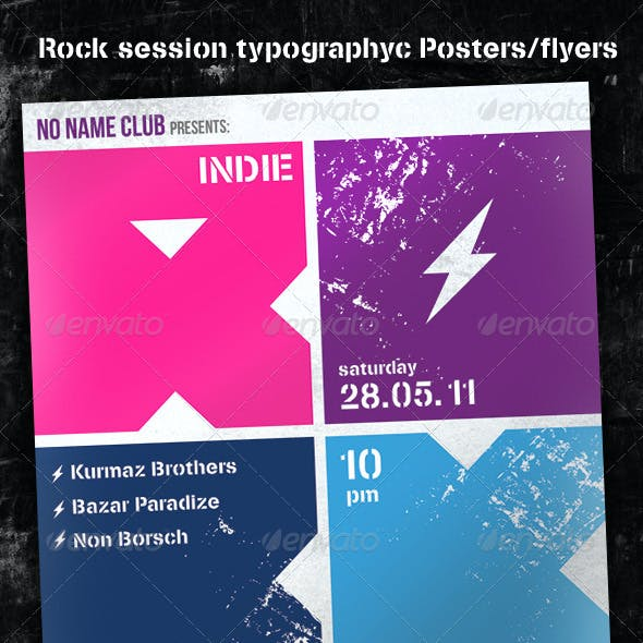 Rock Session Typographic Poster/Flyer