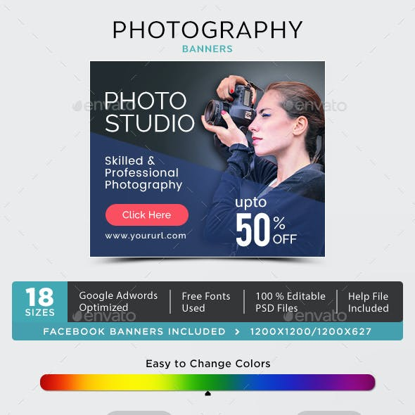 Photography Banner Graphics Designs Templates