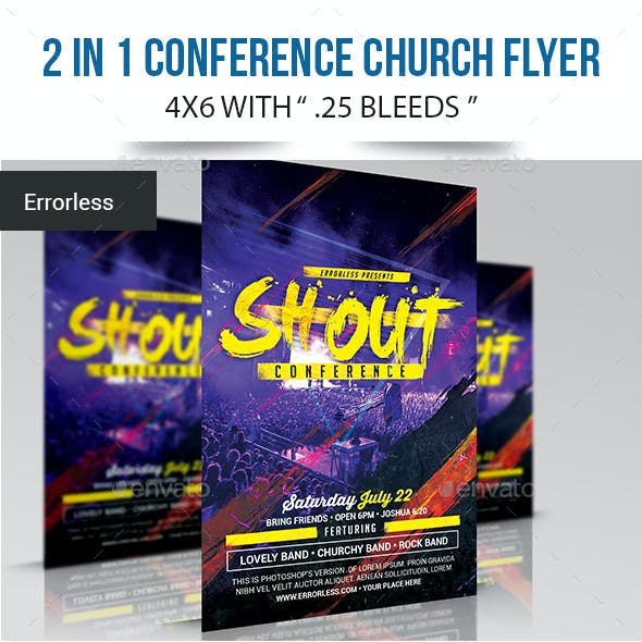 2 in 1 Conference Church Flyer